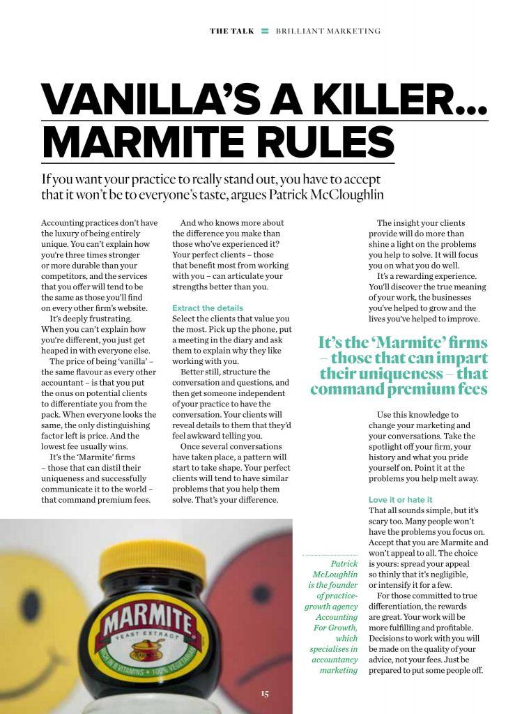 1804 Vanilla's a killer, Marmite rules AAT-1